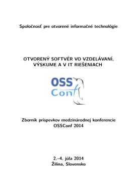 f9d93b014726 Spolocnost  pre otvorené informacné technológie OTVOREN´Y SOFTVÉR VO  VZDEL´AVAN´I